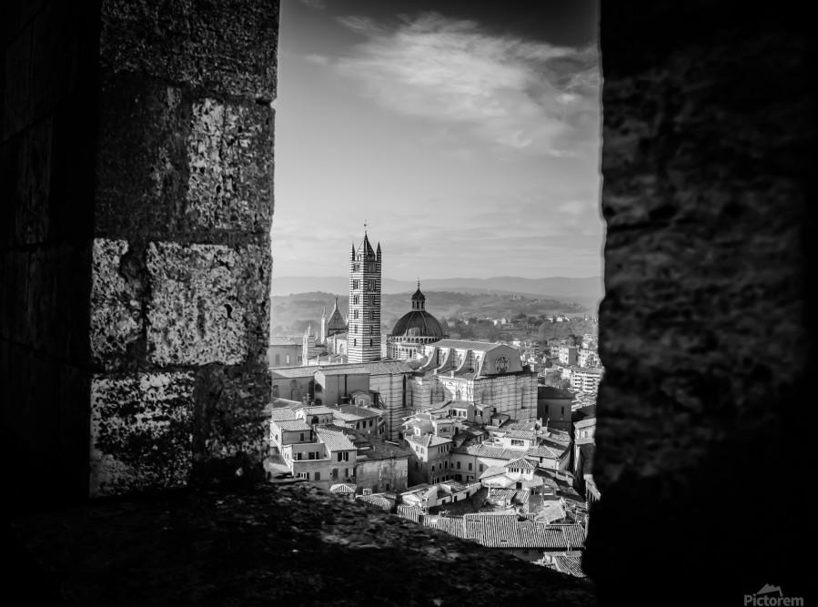 Bnw Siena Tower  Print